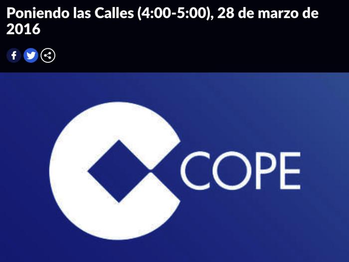 Postcast grabado en directo en la cadena de radio COPE, en la que intervengo para hablar sobre como afecta la depresión al organismo