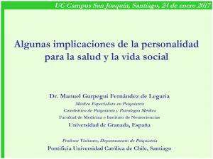 Manuel Gurpegui Algunas implicaciones de la personalidad para la salud y la vida social.