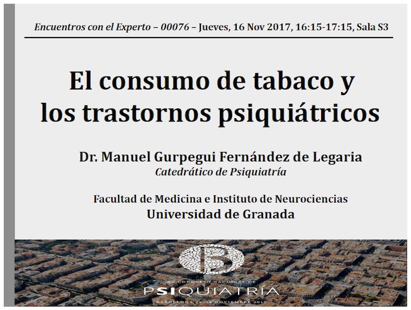 el consumo de tabaco y los trastornos psiquiatricos