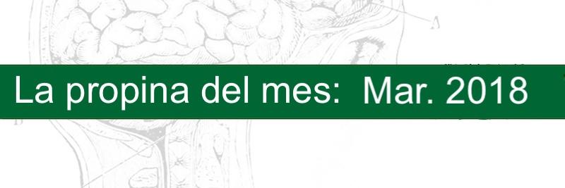 Profesor Manuel Gurpegui, la propina del mes Marzo 2018