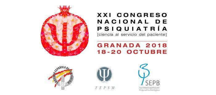 XXI Congreso Nacional de Psiquiatría Octubre 2018 en Granada