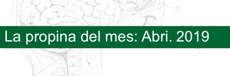 Profesor Manuel Gurpegui, La propina del mes: Abril 2019